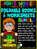Sight Word Books and sight words practice Worksheets- BUNDLE PACK