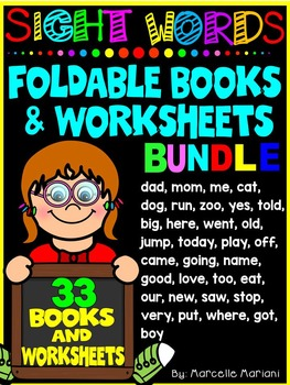 Sight Word Books and Worksheets- BUNDLE PACK