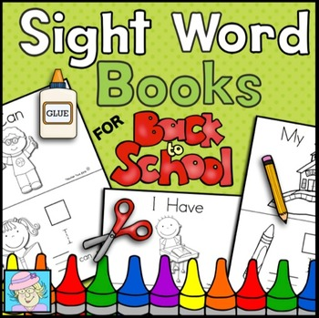 Sight Word Books for Back to School (Paste, Trace, and Write)