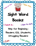 Sight Word Books for Beginning and Struggling Readers