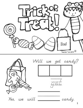 Sight Word Books for Halloween (Paste, Trace, and Write)