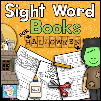 Halloween Activities Sight Word Books Kindergarten | Kindergarten Sight Words