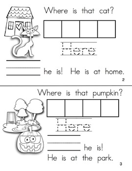Halloween Sight Word Books Kindergarten | Kindergarten Sight Words