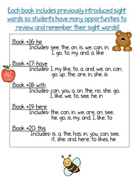 Sight Word Books: Set 4-he,have,with,here,this; Sight Word Books#16-20 Bundle