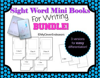 Sight Word Books for Writing BUNDLE