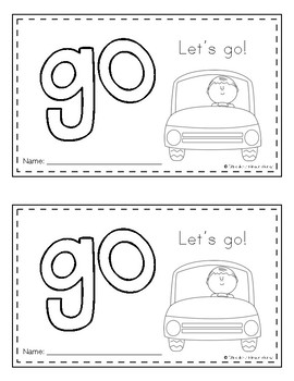 Sight Word Books (go) *FREEBIE*