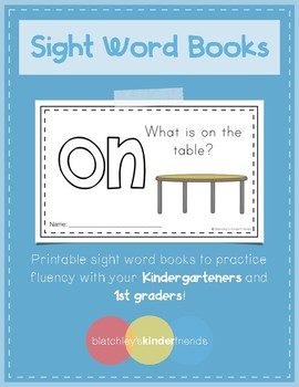 Sight Word Books (on)