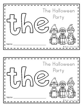 Sight Word Books (the) *Halloween Edition*