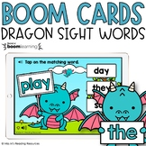 Sight Word Boom Cards™ | Dragon Sight Word Game for Distan