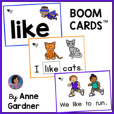 LIKE Sight Word Boom Cards: Kindergarten Remote Learning G