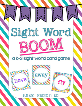 Sight Word BOOM