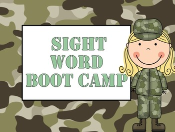 Sight Word Boot Camp Bundle