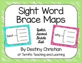 Sight Word Brace Maps {Dolch Second Grade List}