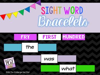 Sight Word Bracelets - FRY First Hundred