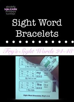 Sight Word Bracelets: Fry's 25-48