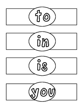 Sight Word Bracelets: Fry's First 100