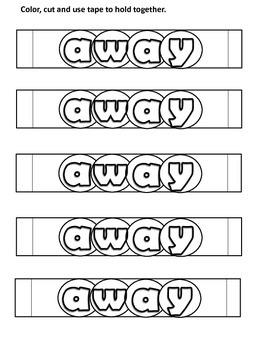 Sight Word Bracelets (Pre-Primer Dolch)