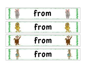 Sight Word Bracelets: Safari: 1st Grade