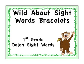 Sight Word Bracelets: Safari: 1st Grade
