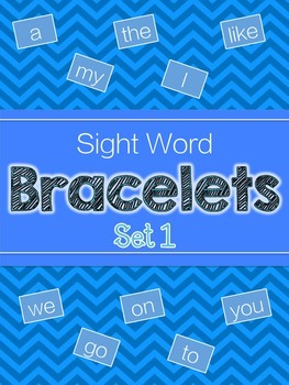 Sight Word Bracelets Set 1