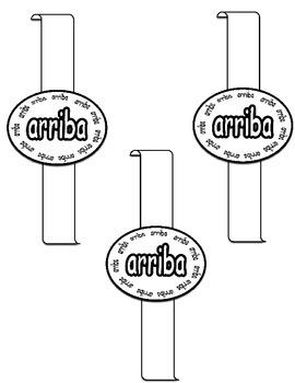 Sight Word Bracelets (Spanish)