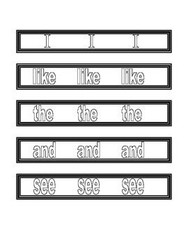 Sight Word Bracelets for Kindergarten Journeys