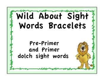 Pre-primer and Primer Sight Word Bracelets: Safari