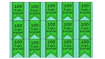 Sight Word Brag Tags Bundle