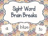 Sight Word Brain Breaks