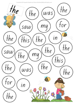Sight Word Bubble Pop Game