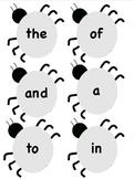 Sight Word Bugs 1-20