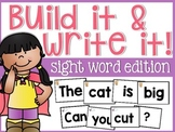 Sight Word Build and Write it!