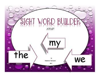 Sight Word Builder Activity