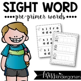 Sight Word Builders {pre-primer words}