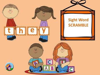 Primer Sight Word Scramble