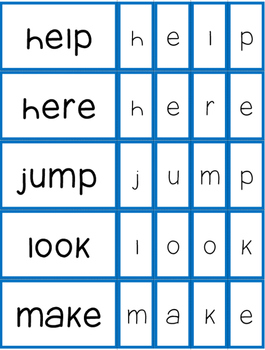 Sight Word Building Cards