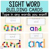 Editable Sight Word Building Cards