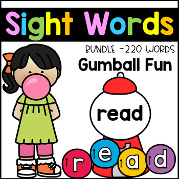 Sight Word Building - Gumball Sight Words