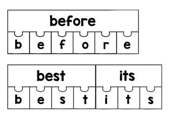 Sight Word Building Puzzles: Second Grade Set