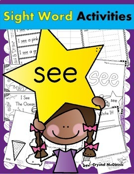 Sight Word BUNDLE #1 (like, the, and, see, we, to, go, a, my, & me)