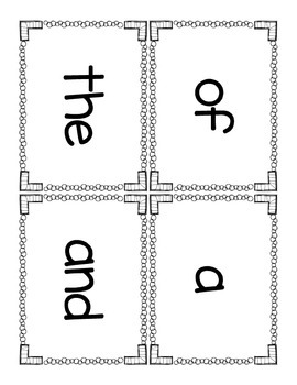 Sight Word Bundle - Words 1-10