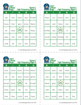 Bargain Sight Word Bundle + Bingo (LTR)