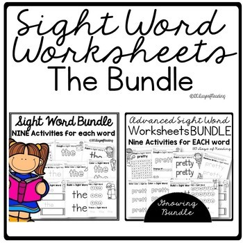 Red Word Activities and Worksheets Bundle