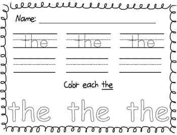 Sight Word Bundle {Aligned with Reading Street curriculum! 40 Sight Words!}
