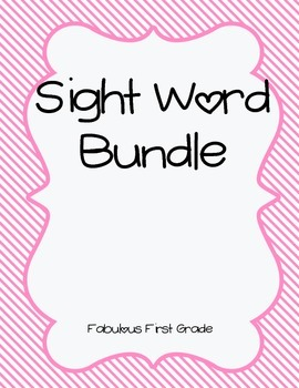 SIPPS Sight Word Bundle-  60 Sight Words