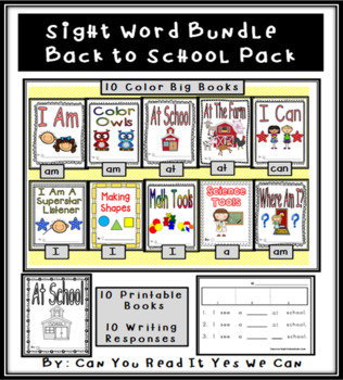 Sight Word Bundle: Back To School Pack