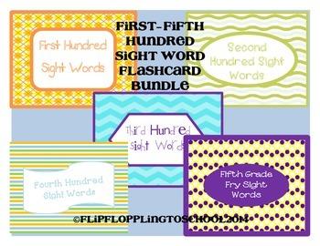 Sight Word Bundle Fry Hundred Flashcards