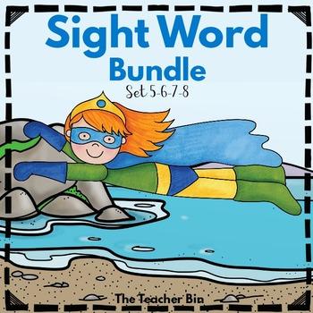 Kindergarten- Special Education - Sight Word Bundle Sets 5-6-7-8
