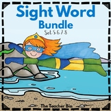 Kindergarten- Special Education - Sight Word Bundle Sets 5-6-7-8