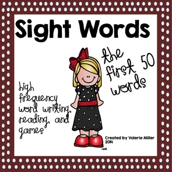 Sight Word Bundle-The First 50 words